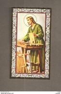 S. GIUSEPPE -  F.lli Bonella - SANTINO CORNICE ORO CON PREGHIERA  PER TROVARE LAVORO - Devotion Images