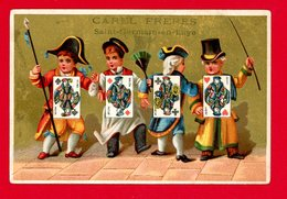 St Germain En Laye, Carel Frères, Chromo Imp. Abbadie, Jeu De Cartes - Trade Cards