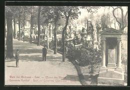 AK Gent, Weg Auf Dem Gemeinde-Friedhof - Gent