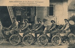 H146 - 38 - PONCHARRA - Isère - Orchestre De La Maison Cavagnat - Cycles à Pontcharra Sur Son Départ à Motocyclettes - Pontcharra