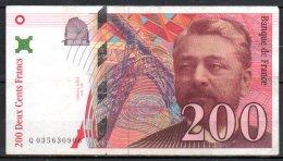 France Billet De 200 Francs 1996 Q035 - 1992-2000 Last Series