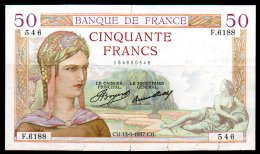 France Billet De 50 Francs 1937 CU F6188, Coupures - 1871-1952 Circulated During XXth