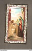 ANNUNCIAZIONE A MARIA  -  F.lli Bonella - SANTINO CORNICE ORO CON PREGHIERA ANGELUS - Devotion Images