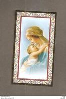 MADONNA E GESU' BAMBINO  -  F.lli Bonella - SANTINO CORNICE ORO PREGHIERA  MAMME IN ATTESA - Devotion Images