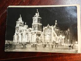17591) MEXICO CATEDRAL DE NOCHE VIAGGIATA 1949 - Messico