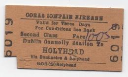 Ferry Ticket : Dublin (IRL) Vers Holyhead (GB) 1979 - Europe
