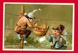 Nancy, A. Keller, Confiseur, Jolie Chromo, Lith. Testu & Massin, Gendarme, Garçon Avec Panier De Pêches - Trade Cards