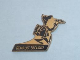 Pin's RENAULT SECURITE, NOIR ET OR - Renault