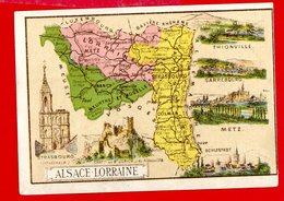 Chocolat Aiguebelle, Chromo Département Alsace Lorraine - Aiguebelle
