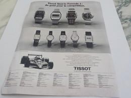 PUBLICITE AFFICHE MONTRE TISSOT QUARTZ FORMULE 1 1979 - Jewels & Clocks