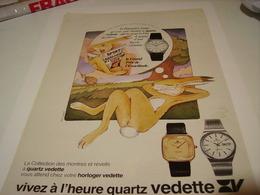 PUBLICITE AFFICHE MONTRE QUARTZ VEDETTE 1979 - Bijoux & Horlogerie