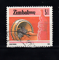 Zimbabwe 1985 Mi Nr 328 ,  Mbira, Muziek -1 - Zimbabwe (1980-...)