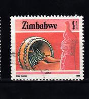 Zimbabwe 1985 Mi Nr 328 ,  Mbira, Muziek -2 - Zimbabwe (1980-...)