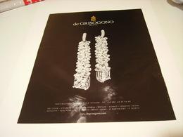 ANCIENNE PUBLICITE BOUTIQUE DE GRISOGONO 2014 - Bijoux & Horlogerie