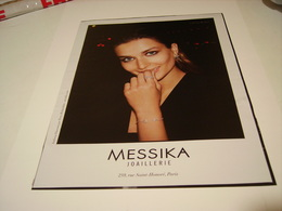 ANCIENNE PUBLICITE JOAILLIERS MESSIKA  2016 - Jewels & Clocks