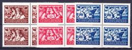 ** Tchécoslovaquie 1946 Mi 505-7 (Yv 433-5) Blocs De 4, (MNH) - Unused Stamps
