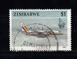 Zimbabwe 1990 Mi Nr 434 , Vliegtuig, Plane -1 - Zimbabwe (1980-...)