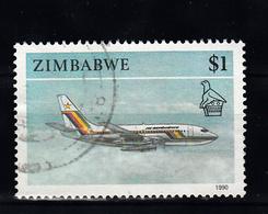 Zimbabwe 1990 Mi Nr 434 , Vliegtuig, Plane -2 - Zimbabwe (1980-...)