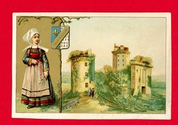 Chromo Tour D'Elven, Morbihan, Bretagne - Trade Cards