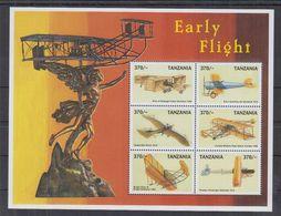 E77. MNH Tanzania Transport Aviation Planes  Early Flight - Airplanes