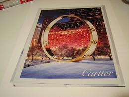 ANCIENNE PUBLICITE MAGASIN CARTIER 2016 - Jewels & Clocks
