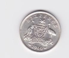 6 Pence 1940 Australie TTB à SUP - Moneda Pre-decimale (1910-1965)