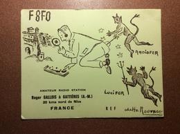Vintage France Nice  Postcard 1965 Devil Lucifer Evil Forces Hunting Ham Radio QSL Radio Card F8FO - Radio Amateur
