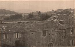 PHOTO DE 13 X 8.3 CM GARD AUJAC VUE PRISE DU CLOCHER EN DIRECTION DE VILLEFORT - Places