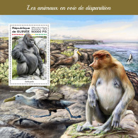 GUINEA REP. 2018 MNH** Gorillas Endangered Animals S/S - OFFICIAL ISSUE - DH1823 - Gorilles