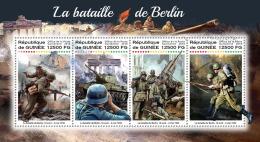 GUINEA REP. 2018 MNH** Battle Of Berlin Schlacht Um Berlin Bataille De Berlin M/S - IMPERFORATED - DH1823 - 2. Weltkrieg