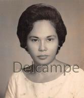 Photographie Philippines Circa 1965 - Filipina Beautiful Young Girl -  Jolie Jeune Fille - Studio - Identified Persons