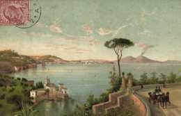 Illustrateur Napoli Dalla Strada Di Posilipo - Pittura & Quadri