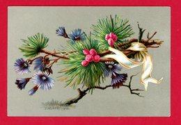 Chromo Branche, Fleurs & Ruban - Trade Cards