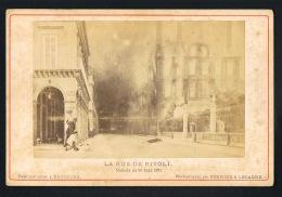 PHOTO PARIS - La Rue De Rivoli -Matinée Du 24 Mai 1871 -Photographié Par FERRIER Et LECADRE-Peint Par Léon Y ESCOSURA - Photographs