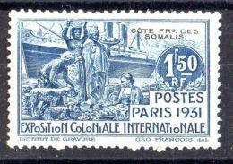 COTE  DES  SOMALIS  ( POSTE  ) :  Y&T N° 140  TIMBRE  NEUF  AVEC  TRACE  DE  CHARNIERE . - Côte Française Des Somalis (1894-1967)