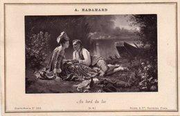 "86Va Photo Cartonné (16.5cm X 11cm) A. Hadamard ""au Bord Du Lac"" - Pittura & Quadri"