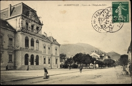 Cp Albertville Savoie, Vue Générale Des Cours De L'Hôtel De Ville - Frankreich