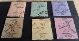TRIESTE B 1952, Olympic Games - Mi, 70/75 - Sass. 57/62 Serie Cpl. 6v. Usati Perfetti - Trieste