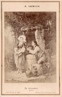 """86Va Photo Cartonné (16.5cm X 11cm) E. Lejeune """"La Déclaration"""" - Pittura & Quadri"""