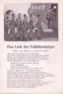 ALTE  AK  Militär  / Fallschirmjäger Mit JU - Das Lied Der Fallschirmjäger -  Ca. 1940 - Guerre 1939-45