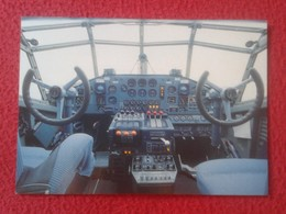 POSTAL POST CARD CARTE POSTALE PLANE AIRPLANE AVIÓN COMPAÑÍA LUFTHANSA GERMANY JUNKERS JU 52 COCKPIT VER FOTO/S Y DESCRI - Flugzeuge