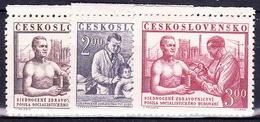 ** Tchécoslovaquie 1952 Mi 746-8 (Yv 654-6), (MNH) - Unused Stamps