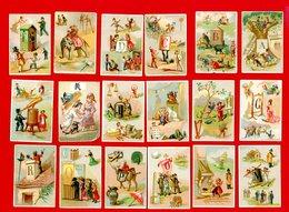 St Germain En Laye, Maison Maulvaux, épicerie & Vins, Alphabet Complet Mini Chromos Lith. Romanet - Trade Cards