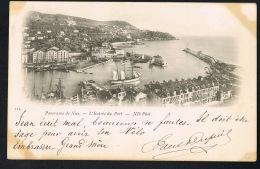 NICE  CPA Panorama De Nice - L'entrée Du Port- Voyagée 1898 Avec 2 Timbres De MONACO-- Recto Verso- Paypal Sans Frais - Transport Maritime - Port