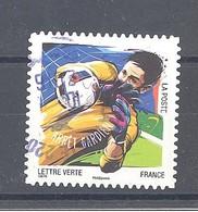 France Autoadhésif Oblitéré N°1284 (Les 10 Plus Beaux Gestes Des Footballeurs) (cachet Rond) - France