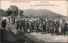 ! Alte Ansichtskarte Frontiere Franco Allemande Nouveau Saales, Soldaten, Militär, Grenze Frankreich Deutschland - Douane