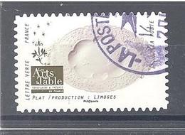 France Autoadhésif Oblitéré (Arts De La Table - Plat Limoges) (cachet Rond) - France
