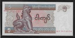 Myanmar - 5 Kyats - Pick N°70 - NEUF - Myanmar
