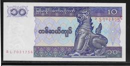 Myanmar - 10 Kyats - Pick N°71 - NEUF - Myanmar