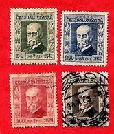 3168  --  1923 - TCHECOSLOVAQUIE  N° 188+190**/ 189+191 Oblitérés - Ungebraucht